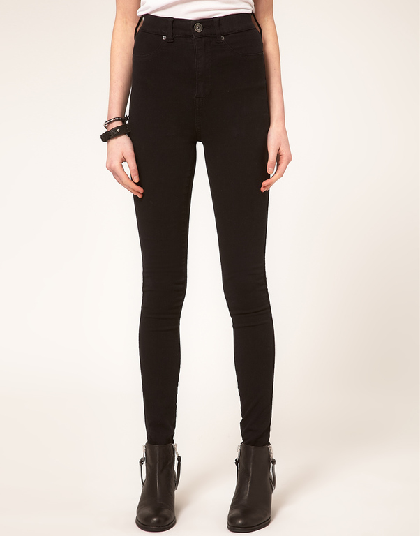 cheap monday high waisted black jeans - Jean Yu Beauty